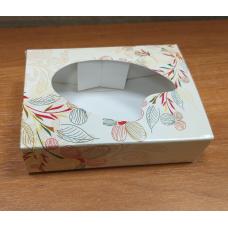 Коробочка бежевая с узором 9 х 6,5 см