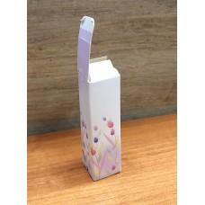 Коробочка для помады Белая с цветами 2,5х2,5х8,5 см