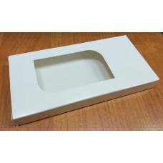 Коробочка для шоколада Белая глянец 16х8 см