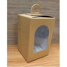 Коробочка-фонарик из крафт картона 8х8х12 см