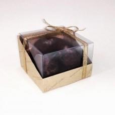 Коробочка Natural Cosmetics с пластиковым верхом малая