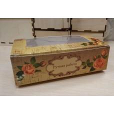 Коробочка с окошком Ручная работа 14х9 см