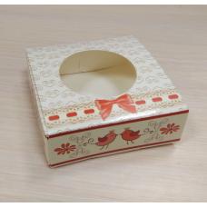 Коробочка квадратная 7,5х7,5 см Птички