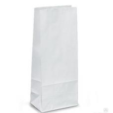 Пакет крафт бумажный  белый без ручек (маленький) 8х16 см