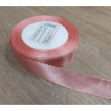 Лента атласная Розовая ширина 20 мм, 1 м