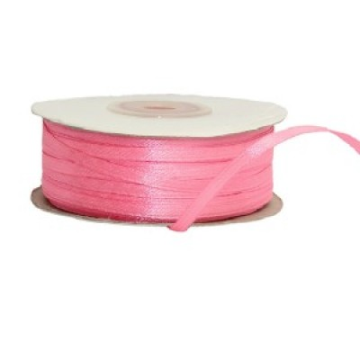Лента атлас Розовая, ширина 3 мм