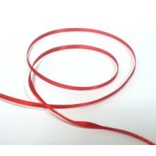 Лента атласная, красный, 1 м