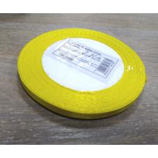Лента атласная Лимонная, ширина 6 мм
