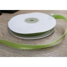 Лента атласная Нежно-зеленая, ширина 9 мм, 1 м