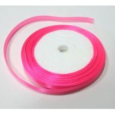 Лента атласная, розовый ширина 6 мм, 1 м