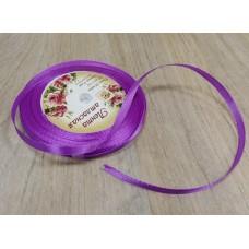 Лента атласная фиолетовая 5 мм, 1 м