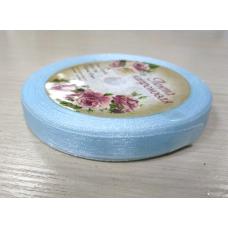 Лента капроновая Нежно-голубая 10 мм, 1 метр