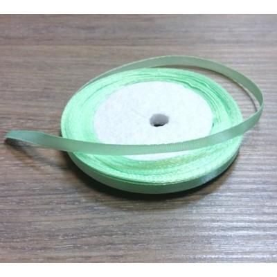 Лента атласная нежно-зеленая, 1 м