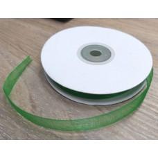 Лента из органзы Травянисто-зеленая 1 см, 1 м