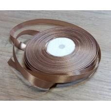 Лента атласная Светло-кофейная 10 мм, 1 метр