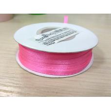 Лента атлас Ярко-Розовая, ширина 3 мм