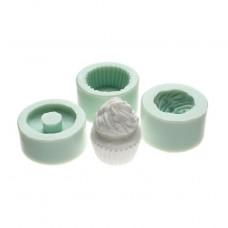"""Молд силикон для полимерной глины (набор 3 шт) """"Пирожное воздушное"""" 2,7х2,5 см"""