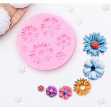 Молд силиконовый Цветы 6 штук