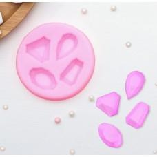 """Молд силиконовый """"Драгоценные камни"""" 7,3х1 см"""