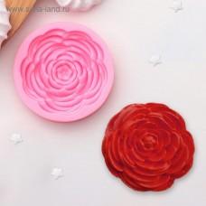 """Молд силиконовый """"Прекрасная Роза"""" 5,5 см х 5,5 см х 0,5 см"""