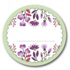 Наклейка для надписи Цветы (3 шт)