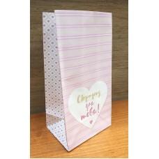 Пакет подарочный бумажный Сюрприз 10х19,5 см
