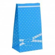 """Пакет упаковочный """"Бантик"""", цвет голубой"""