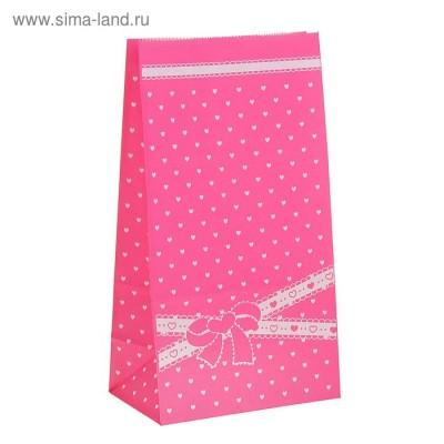 """Пакет фасовочный """"Бантик"""", цвет розовый"""