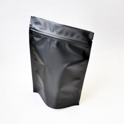 Пакет дой пак металлизированный черный с замком Зип лок