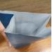 Пакет фасовочный с объемным дном Снежинка голубой 8х22 см