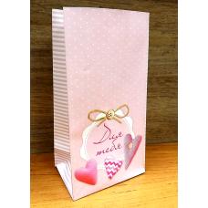 Пакет фасовочный бумажный Розовый 10х19,5 см
