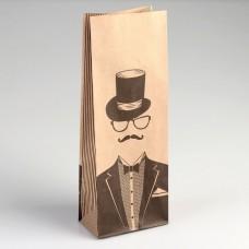 Пакет фасовочный крафт Джентельмен 10х6х26 см