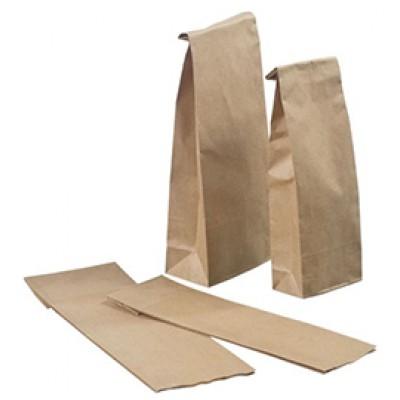 Пакет крафт бумажный 8 см х 22 см х 4,5 см