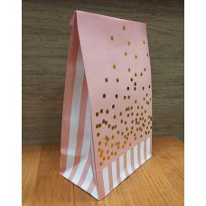 Пакет упаковочный бумажный Розовый 13х20 см