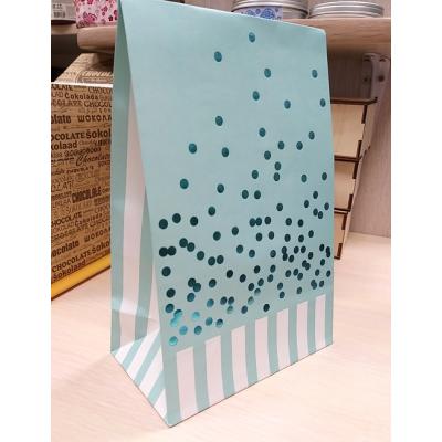 Пакет подарочный бумажный Бирюзовый 13х20 см