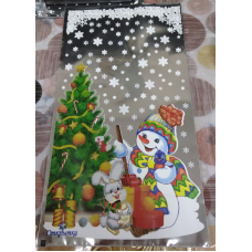 Пакет подарочный со Снеговиком 20*35 см