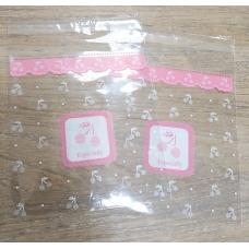 Пакет с липким краем Вишенки 10х11 см