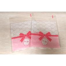 Пакет с липким краем For You розовый бант