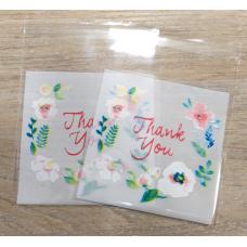 Пакетик с липким краем Цветы Thank You