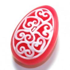 Пластиковая форма Яйцо - орнамент с завитушками