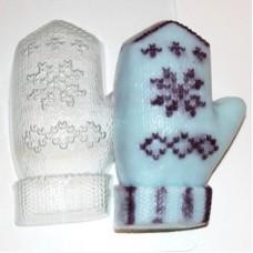 Пластиковая форма для мыла Варежка