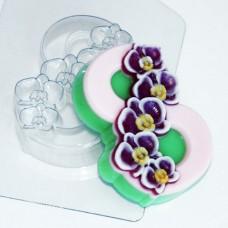 Пластиковая форма 8 марта - Орхидеи по диагонали