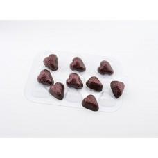 Пластиковая форма для шоколада Шоко Клубника