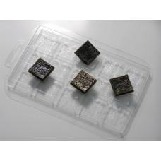 """Пластиковая форма для шоколада """"Деревянные квадратики"""""""