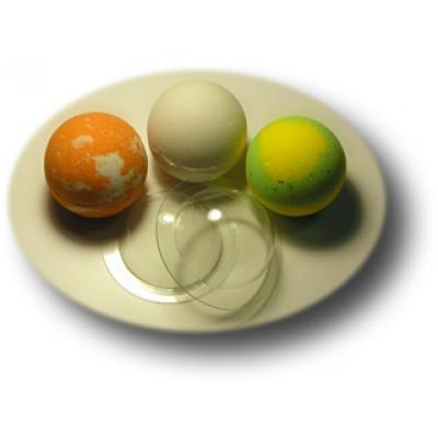 """Пластиковая форма для бомбочек """"Сфера средняя"""" (2 шт.)"""