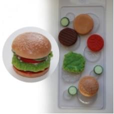 "Пластиковая форма для мыла ""Бургер"""
