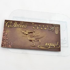 Пластиковая форма для шоколада Мышь на льду