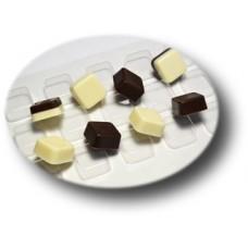Пластиковая форма для шоколада Конфеты квадратные 25x25x12