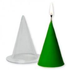"""Пластиковая форма для свечей """"Конус большой"""""""