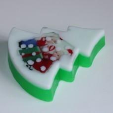 """Пластиковая форма для мыла """"Елка плоская"""""""